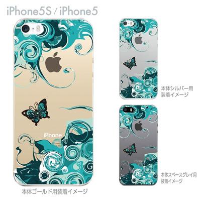 【iPhone5S】【iPhone5】【iPhone5sケース】【iPhone5ケース】【カバー】【スマホケース】【クリアケース】【フラワー】【花と蝶】 29-ip5s-nt0087の画像