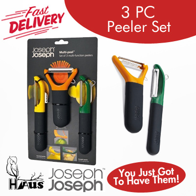 Qoo10 joseph and joseph 3 piece peeler set kitchen for Qoo10 kitchen set