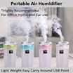 Air Humidifier / Purifier Improves Dry Skin/Portable Mini USB / Car Air Humidifier Purifier/Air Puri
