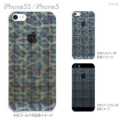 【iPhone5S】【iPhone5】【iPhone5sケース】【iPhone5ケース】【カバー】【スマホケース】【クリアケース】【チェック・ボーダー・ドット】【チェックとヒョウ柄】 21-ip5s-ca0045の画像