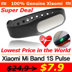 Orginal Xiaomi Mi Band 1S Pulse★ Water Resistant ☆ Heart rate Monitors ★ Sleep Tracker ☆ Sports Heal