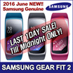 [LAST DAY!]  Samsung Gear Fit 2 ★ Samsung Smart Watch / GPS Sports Band / Tracking Smart / Fitness Band / Large and Small Size / Black Blue Pink Colours ★