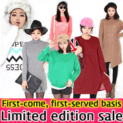LIMITED QUANTITY!! ★ The Da Da ★ Hot sale!new arrivals ★ F/W Fashion in the long section T-Shirt Loose Dress / plus size