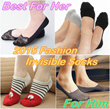 [Promotion][BUY 7 FREE 1]*New Designs Updated*Fashion Women*Men Invisible Sock/SG Ready Stock/Bamboo Boat socks★Ankle Sock★Bamboo/Lace/Viscose Fiber Sock★Anti-Slip Sock★Men Sock★