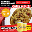 [Bundle of 4] Instant Self Boiling Rice Packs - 5 Flavours - Free Peach Can!