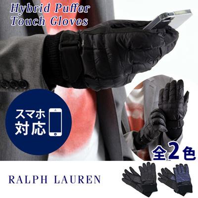 ポロ ラルフローレン POLO RALPH LAUREN ユニセックス グローブ/手袋(スマートフォン対応) Hybrid Puffer Touch Gloves 6G0051の画像