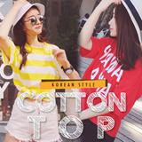 Korean fashion students sportswear cotton topcotton shirts