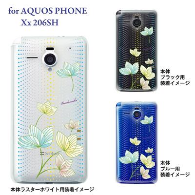 【AQUOS PHONE Xx 206SH】【206sh】【Soft Bank】【カバー】【ケース】【スマホケース】【クリアケース】【Vuodenaika】【フラワー】 21-206sh-ne0026caの画像