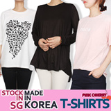 ★[Stock SG !!]Made In KOREA★★1 Day Hot Sale !! $4.9/Worth $1 Free Gift★/2015 S/S Hot ITEM/Women t-shirts/box T-shirts/stylish/loose fit/top/S~XXXXL