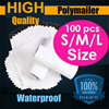 Polymailer 100pcs/Plastic Mail Bags/Courier Bag/Postal Poly Mailers Shipping/Delivery Envelopes/ White Green Gray/Durable Mailing Bags/Postage