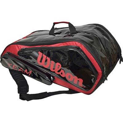 ウイルソン(Wilson) チーム6パック ブラック/レッド WRZ897506 【テニス用品 バッグ ラケットバッグ 遠征バッグ ウィルソン】の画像