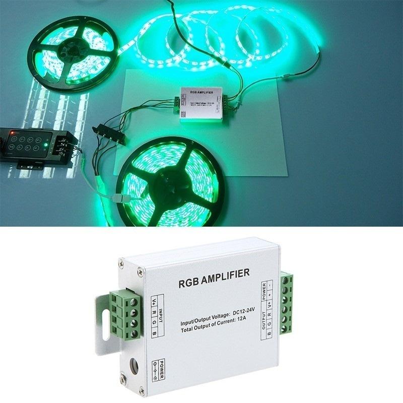 【クリックでお店のこの商品のページへ】SMD 5050 3528 LEDストリップライト用DC 12-24V 12A LED RGB信号アンプ
