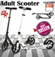 ★RESTOCKED★ SCOOTER 100% Authentic Adjustable Adult Scooter* Best Price* LOCAL SELLER* Fashionable Stylish and Trendy* Easy to Carry* SALE* Available in GREY WHITE BLACK* TVADS TV-ADS