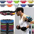 Sports Training bicycly Running Expandable Waist Pouch Belt Single Double Zipper Shorts Padded bag Sports Running elastic waist Belt Bag Pouch Armband For IPhone 5 5S 4S Samsung Galaxy S3 S4