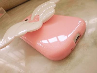【iPhone5 ケース】iphone5 専用 エンジェルの翼ソフトケース 天使の羽 Angel Soft case for iphone5 (ピンク)の画像