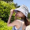 リネンリボンエアリーハット 帽子 レディース 紫外線100%カット 女性用 帽子 ベージュ ネイビー ブラウン