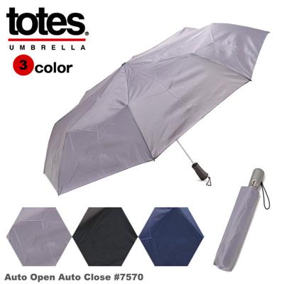 トーツ 傘 折りたたみ傘 totes ワンタッチ開閉式 メンズ 7570 折り畳み傘 折りたたみかさ ブランド 男性 おしゃれ 通販の画像