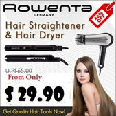 [ROWENTA] Hair Straightener / Compact Pro Ionic Hair Dryer / Straightening iron / Curling