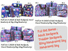 Travel Foldable Light Bag Backpack Luggage Organizer Pouch Tote Sling Kids Toddler Woman Handcarry Water Resistance Sports School