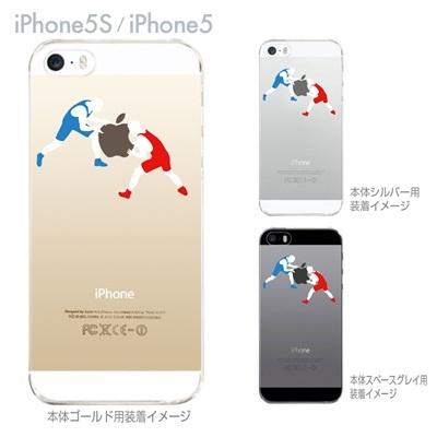【iPhone5S】【iPhone5】【iPhone5sケース】【iPhone5ケース】【カバー】【スマホケース】【クリアケース】【クリアーアーツ】【レスリング】 06-ip5s-ca0015の画像