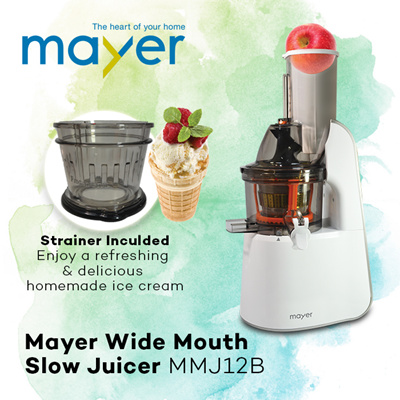 Best Wide Mouth Slow Juicer : Qoo10 - *Authorized Distributor* MAYER Wide Mouth Slow Juicer MMJ12B : Home Electronics