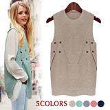 Super Time Sale!! ★Orangerun★ soft long kint vest / Premium Quality /  Fast Shipping!