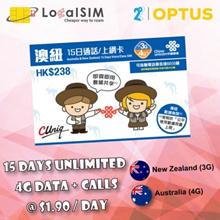 【AustraliaNZ—15days】 ◆4G Unlimit Data+Voice◆Cash+Carry Bugis/Bedok/Nex/Clementi/Northpoint/PlazaSing