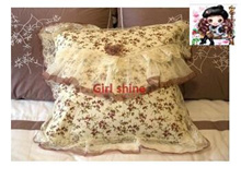 Garden Rose pillow sleeve by a pillow cushion cover (not including the pillow)