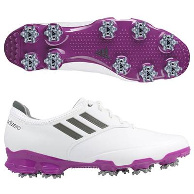 アディダス (adidas) adizero Tour(ホワイト×ダークシルバー×パッションフルーツ) 674951 [分類:ゴルフシューズ スパイク (メンズ)] 送料無料の画像