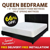Queen Mattress + Queen Bedframe Set / Bed with Frame