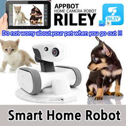 [APPBOT] RILEY App Wi-fi Controlled Robot With IP Camera and Auto Charging  / Audio  Live View