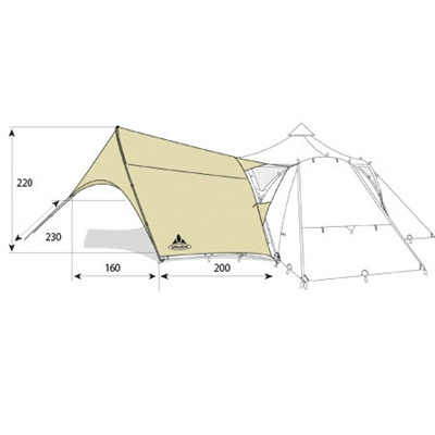 ファウデ(VAUDE) バダヴィタープ 15689 【テント 連結】の画像