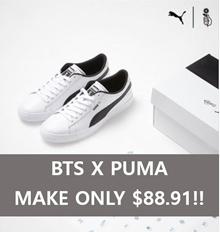 [ BTS x PUMA ] NEW VER. BTS BASKET Shoes Sneakers (RELEASE 31-08-2018)