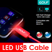 Remax Golf LED USB Charging Cable Iphone 7 Samsung S7 Edge