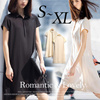 背面プリーツワンピース❤ ポロシャツワンピ 韓国ファッション 海外セレブ ワンピース シャツ プリーツ