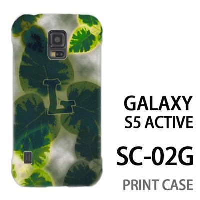 GALAXY S5 Active SC-02G 用『No1 L 葉っぱ』特殊印刷ケース【 galaxy s5 active SC-02G sc02g SC02G galaxys5 ギャラクシー ギャラクシーs5 アクティブ docomo ケース プリント カバー スマホケース スマホカバー】の画像