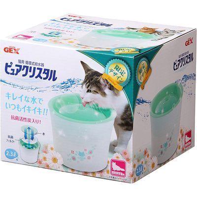 GEX(ジェックス)ピュアクリスタル複数飼育猫用ガーリーグリーンE394075H