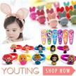 【YOUTING】Kids fashion hair accessories clip hairband hair hoop pin tsum tsum princess disney pokemon