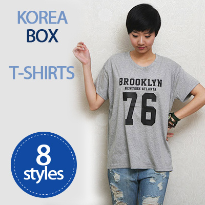[HowRU] ? Korea Loose Fit T-Shirt Deals for only S$28 instead of S$0