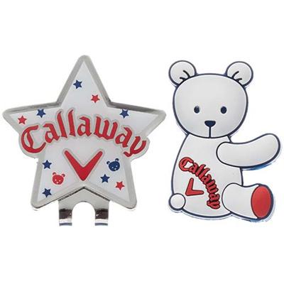 キャロウェイ(Callaway) ベアー(BEAR) マーカー 15 JM WHT 【ゴルフ 小物 アクセサリ】の画像
