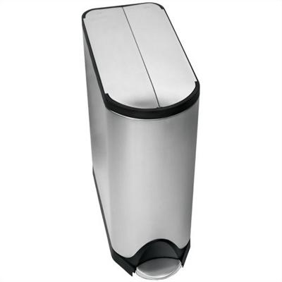 ジョゼフジョゼフ simplehuman(シンプルヒューマン) ダストボックス バタフライカンリサイクラー 40L 【ホーム&キッチン 収納 ゴミ箱 分別ゴミ箱】の画像