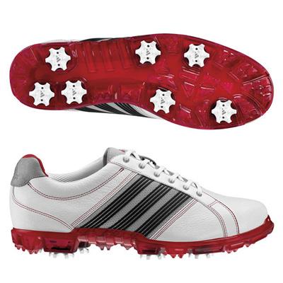 アディダス (adidas) adicross Tour(ホワイト×ユニバーシティレッド×アルミニウム) Q46619 [分類:ゴルフシューズ スパイク (メンズ)] 送料無料の画像