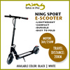 Ninglife Mini Foldable Outdoor Urban Sport Electric/ E-scooter 5 Ah Battery
