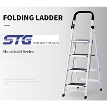 Household Ladder Foldable Large Board 3/4/5 Step Sturdy Compact Safety Lock Anti-slip