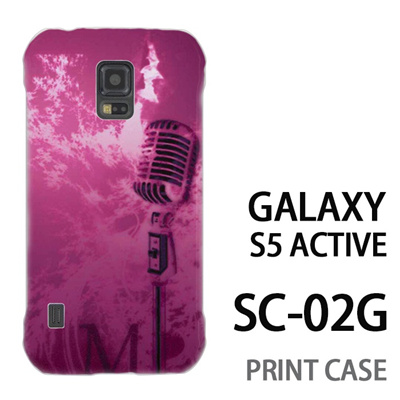 GALAXY S5 Active SC-02G 用『No1 M マイク ピンク』特殊印刷ケース【 galaxy s5 active SC-02G sc02g SC02G galaxys5 ギャラクシー ギャラクシーs5 アクティブ docomo ケース プリント カバー スマホケース スマホカバー】の画像