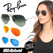 100% AUTHENTIC [Ray-Ban] Unisex RB 3025 Mirror Aviator Sunglasses 19 Designs Local Free Shipping