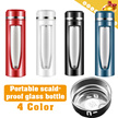 DOUBLE DECK GLASS▶Portable Scald-proof Glass Bottle◀GCB GEB- High Borosilicate Glass/Durable and Double Layer/Brand Quality/At home/In the office/Sports