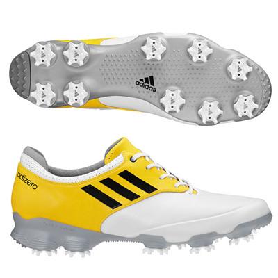 アディダス (adidas) adizero Tour(ホワイト×ブラック×ヴィヴィッドイエロー) Q47087 [分類:ゴルフシューズ スパイク (メンズ)] 送料無料の画像