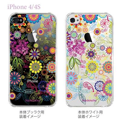【Vuodenaika】【iPhone4/4Sケース】【カバー】【スマホケース】【クリアケース】【フラワー】 21-ip4-ne0009ca 【10P01Sep13】の画像