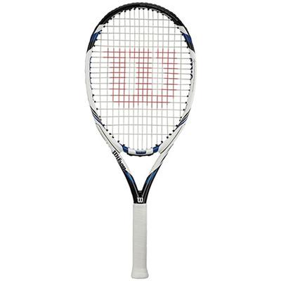 ウィルソン(WILSON) THREE 113 (スリー 113) WRT7263201 ホワイト×ブルー G1 【硬式テニスラケット フレーム 未張り上げ】の画像